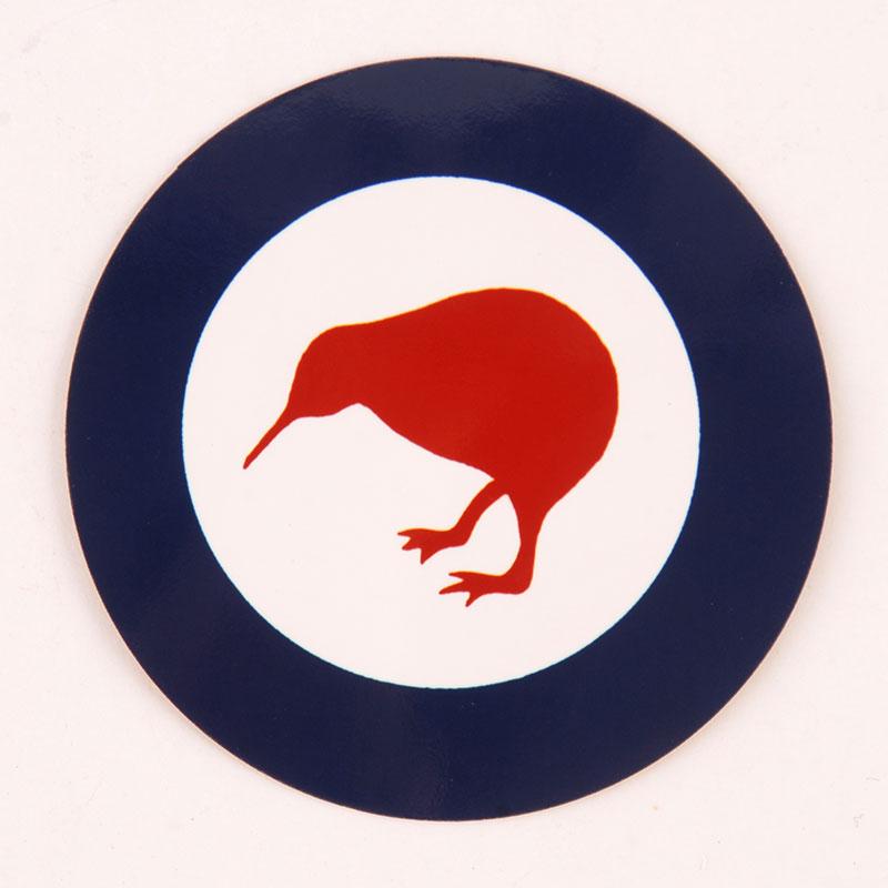 Kiwi Rounder sticker