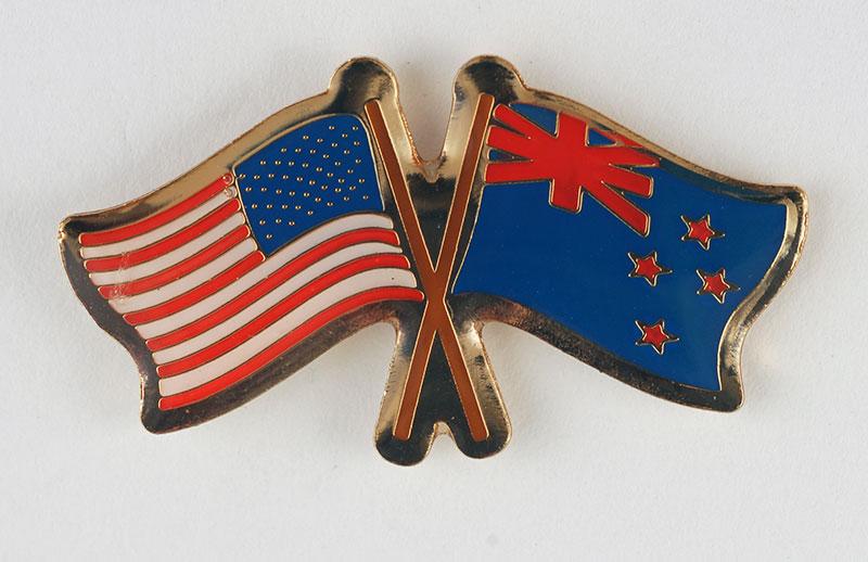 USA and NZ Flag Pin