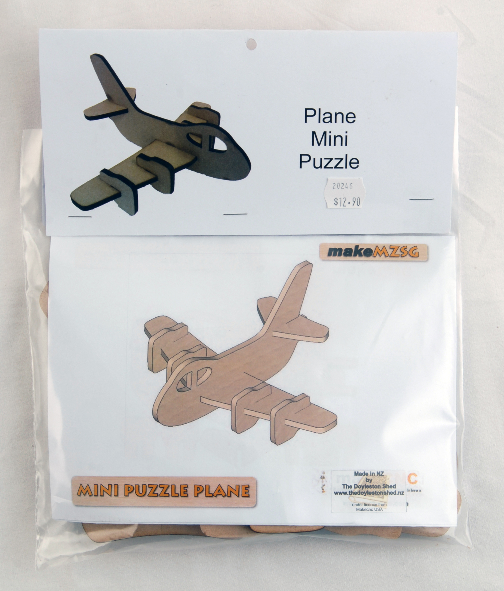 Wood Model Aircraft Kitset - Mini Puzzle Plane