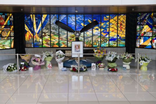 FSome of the many tributes in memory of Thérèse, placed in the memorial alcove at the Air Force Museum of New Zealand. Image: NZDF Official.