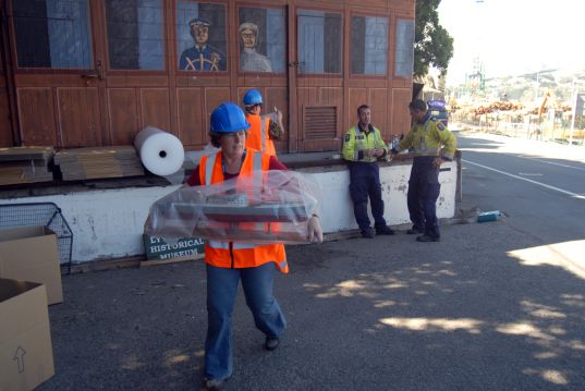 Helping out with the salvage of Lyttelton Museum's collection following the devastating 22 February earthquake. March 2011.