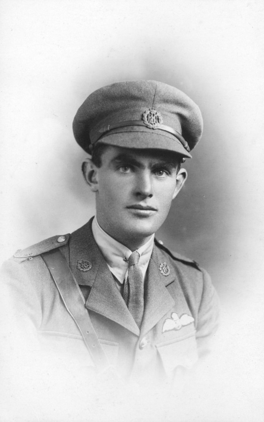 Edwin Wilding in Royal Air Force uniform, 1918. From the collection of the Air Force Museum of New Zealand.