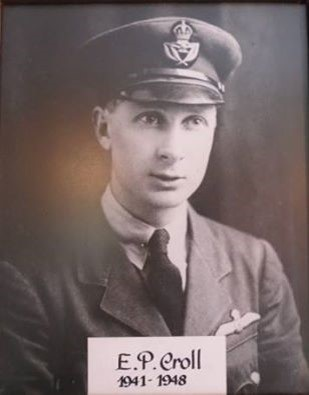 Eric Croll, in the uniform of an Air Training Corps officer during World War Two. (Private Collection)