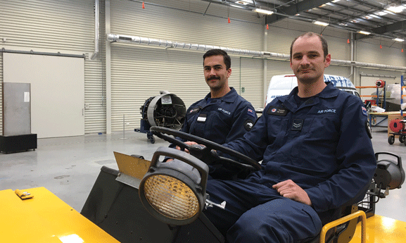 Punishing facial hair, on display at the Air Force Museum. As worn uncompromisingly by Officer Cadet Jamieson Taylor (left) and Corporal Tim de Roo (right).