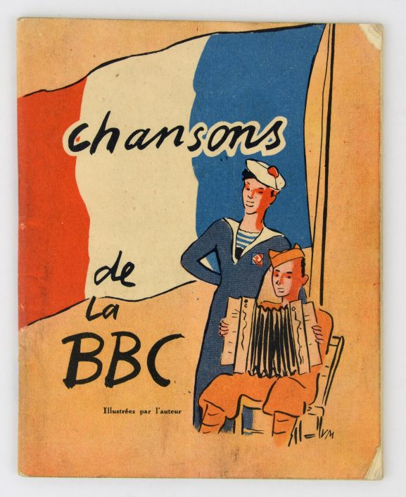 Songbook 'Chansons de la BBC' [front cover]. From the collection of the Air Force Museum of New Zealand.
