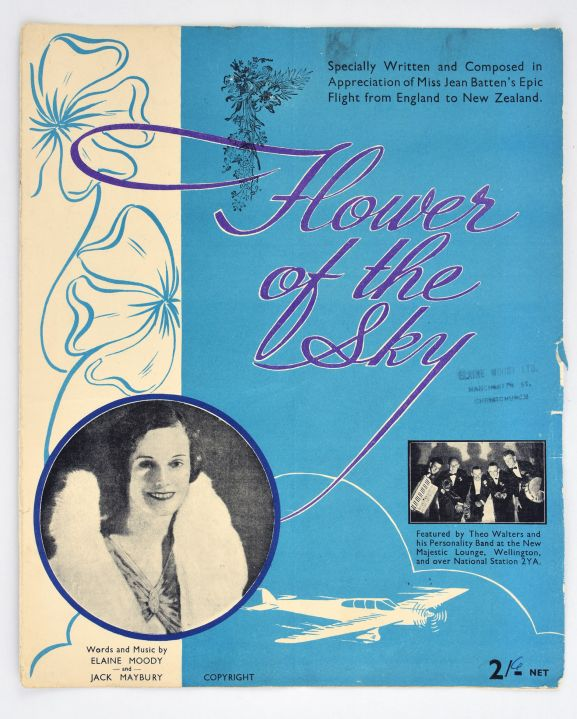 'Flower of the Sky' [front cover]. From the collection of the Air Force Museum of New Zealand.