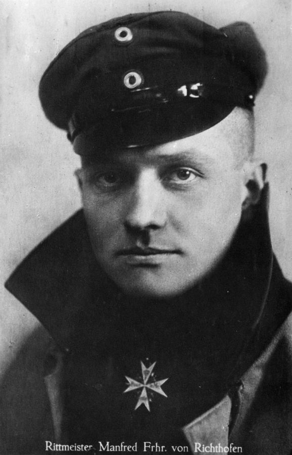 Manfred von Richthofen was the top-scoring fighter ace of World War One, claiming 80 victories. He was killed in action on 21 April 1918. Image from the KL Caldwell personal album collection.