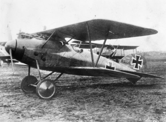 "This is an Albatros D.V, ""the best German aircraft mid war"", Keith Caldwell wrote in his album. This aircraft was brought down by Lieutenant J.L. Sandey and Sergeant H.F. Hughes on 17 December 1917. It was claimed as a war trophy by No. 3 Squadron Australian Air Corps, and is now on display at the Australian War Memorial Museum, Canberra. Image from the K. L. Caldwell personal album collection."