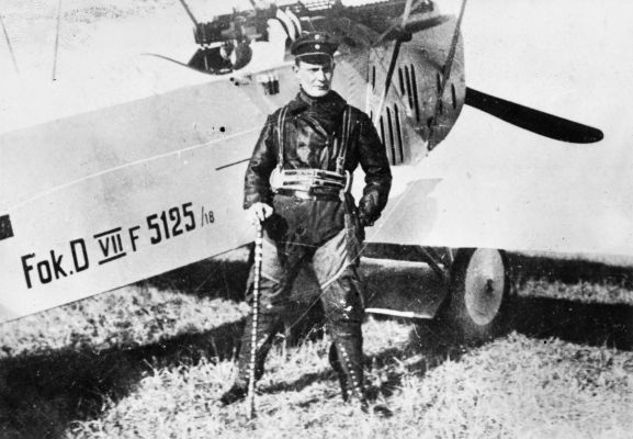 Oberleutnant Hermann Göring claimed 22 aircraft as a fighter pilot in World War One, but rose to infamy as a senior member of the Nazi Party and commander of the German Luftwaffe (Air Force) during World War Two. Image from the K. L. Caldwell personal album collection.