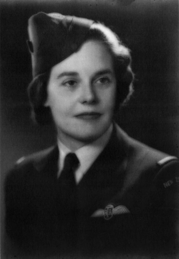 Portrait of Jane Winstone, New Zealand pilot with the Air Transport Auxiliary. Circa 1943. From the collection of the Air Force Museum of New Zealand.