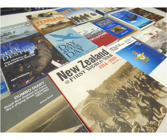 A few examples of books which featuring the Museum's archival content and imagery. Image: Air Force Museum of New Zealand.