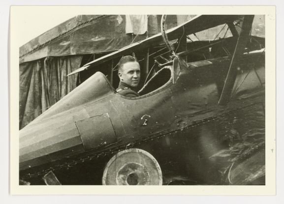 Harry Leese in the cockpit of a Royal Aircraft Factory SE.5a fighter of No. 32 Squadron RAF, c 1918.
