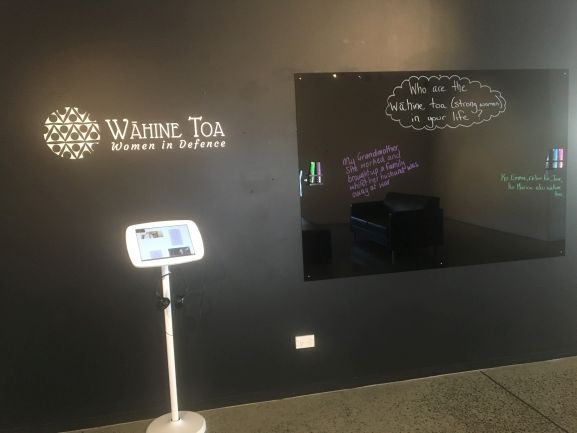 Navy Museum interactive Wahine Toa message board_web