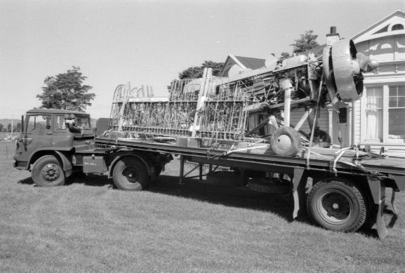Recovery of Avro 626 NZ203 from Mr Jim Frogley's farm at Havelock North.