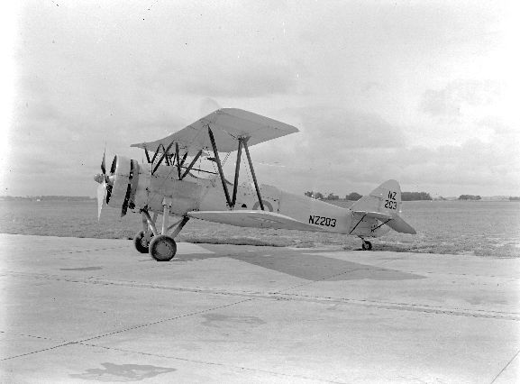 Side view of Avro 626 NZ203 at RNZAF Station Ohakea.