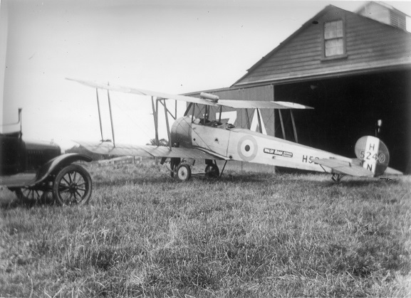 Avro 504k H5240, from the New Zealand Flying School. Believed to be at Hastings. From the collection of the Air Force Museum of New Zealand.