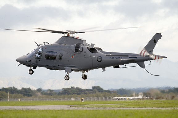 RNZAF A109 helicopter, with kiwi roundel, 2011. Image: NZDF.