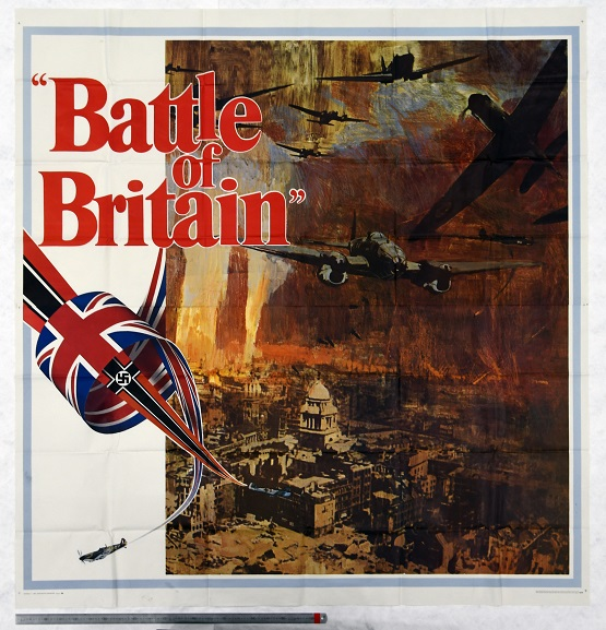 Promotional poster for the 1969 film 'Battle of Britain', now in the Air Force Museum collection.