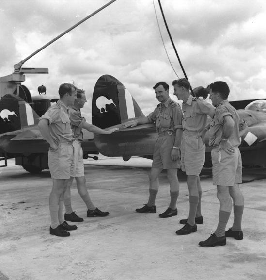 No. 14 Squadron Venom at RAF Tengah, Singapore, 1957. Image: RNZAF Official, TENG135