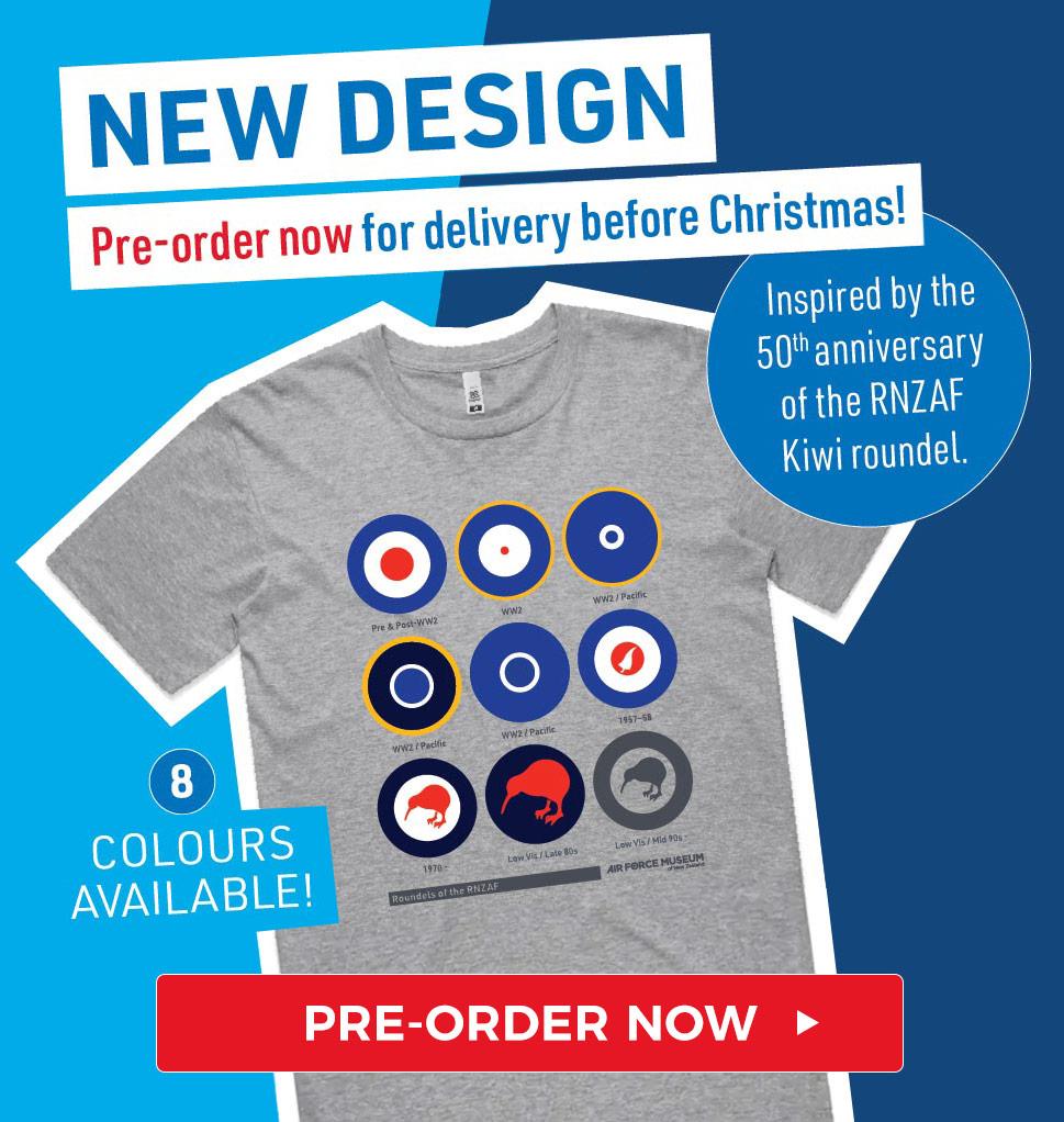 Preorder RNZAF roundel t-shirts