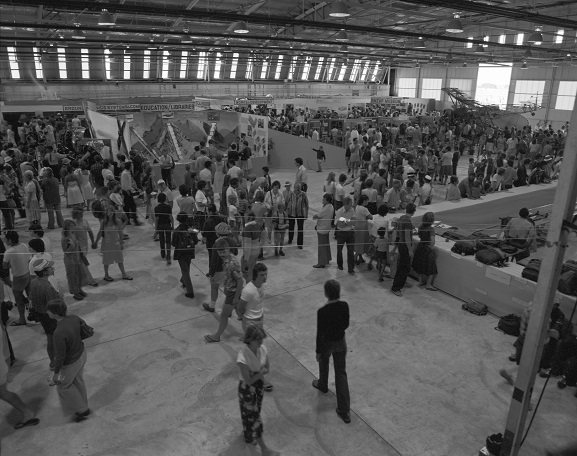 Members of the public viewing the static displays at Air Force Day '81, Ohakea. Image ref OhG423-81, RNZAF Official.