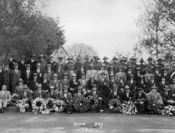 Group photo marked Anzac day