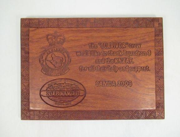 Rectangular wooden plaque