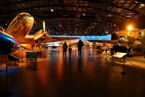 Hall with aircraft dark lighting