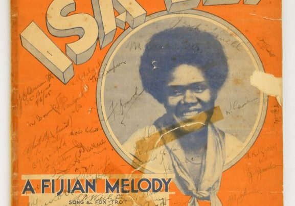 'Isa Lei – a Fijian Melody' [front cover and first pages]. From the collection of the Air Force Museum of New Zealand.
